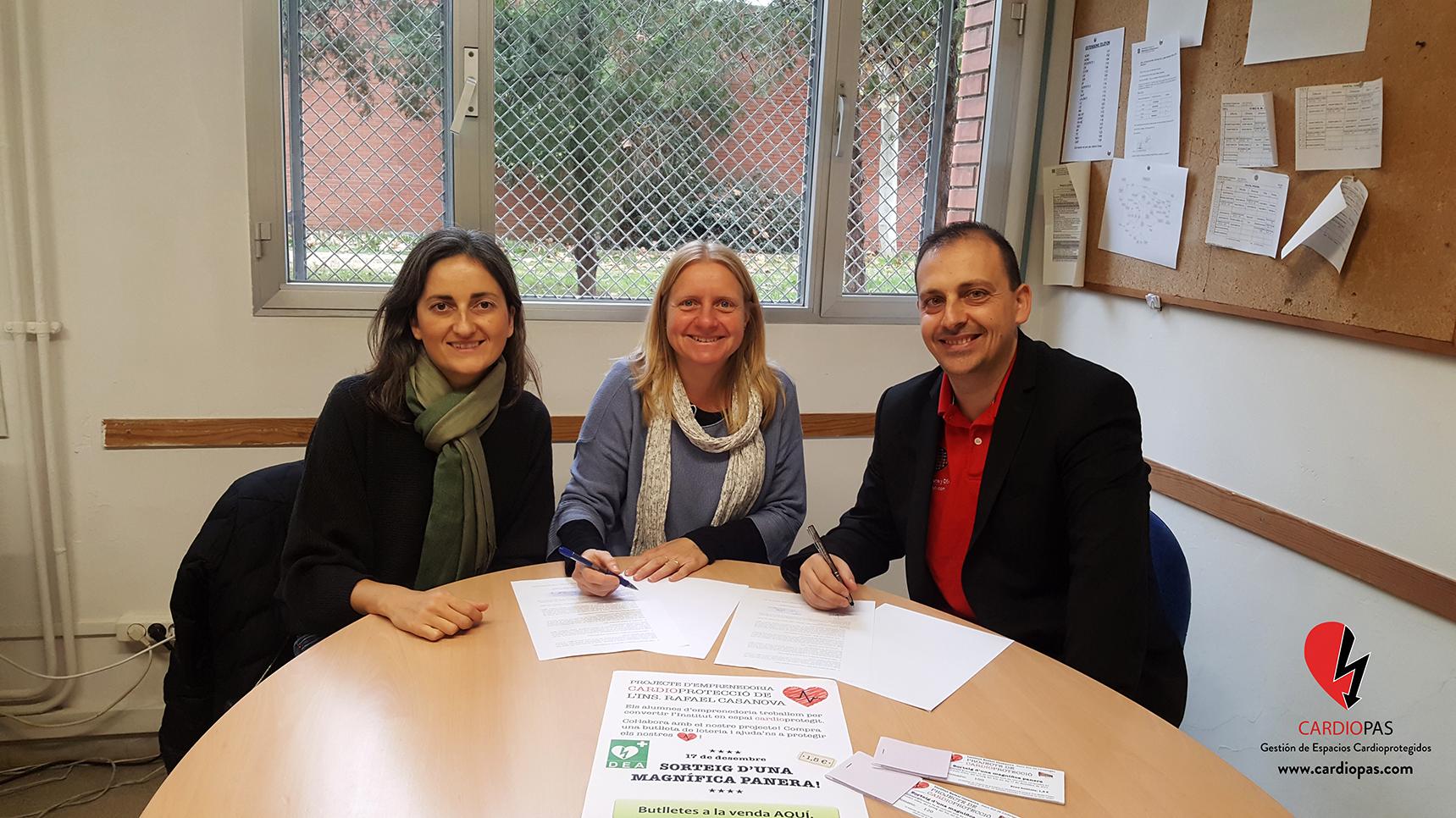 Hoy se ha llevado a cabo la firma del convenio de colaboración entre el Institut Rafael Casanova y CardioPAS, dentro del Proyecto de Cardioprotección del centro educativo. Al evento, han… Leer más